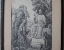 """Seated Jesus"" mural study"