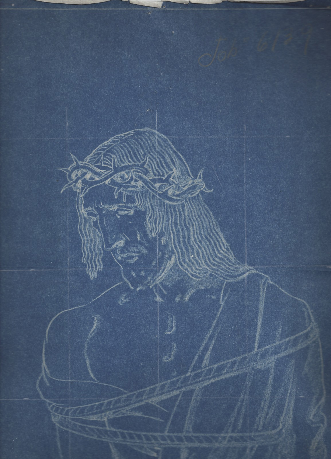 Birnbaum white chalk jesus wropped Daprato Job #6139 a