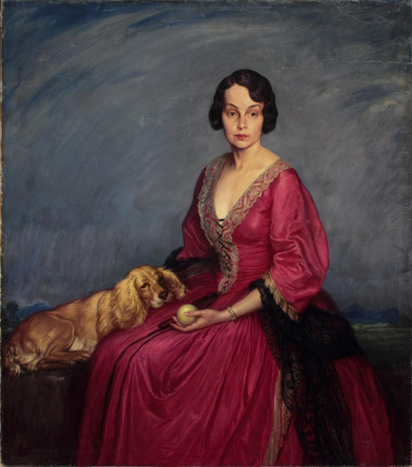 Lady with Spaniel