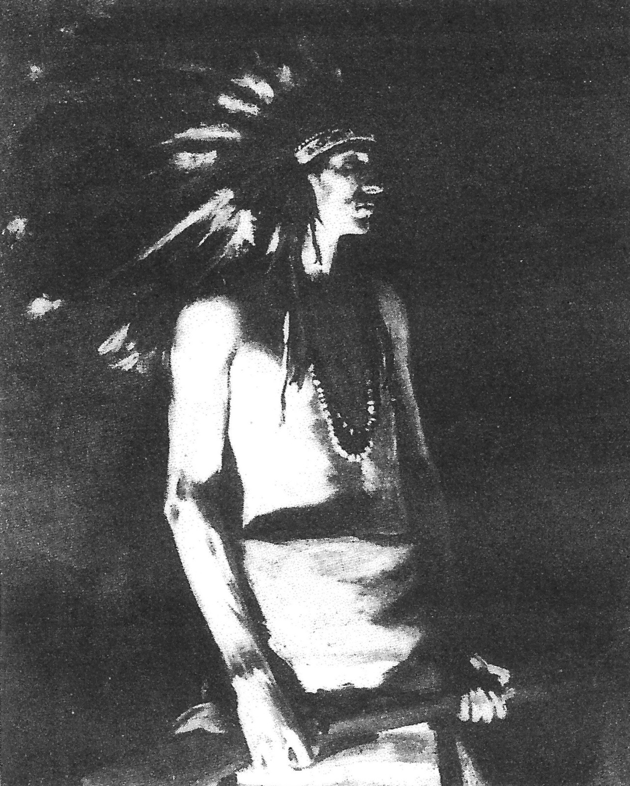 Indian by Firelight Louis Grell