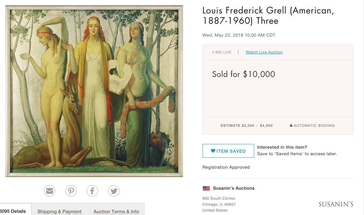 3 Muses, 1934 | Louis Grell Foundation
