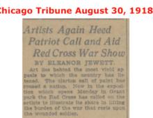 1918 Red Cross Exhibit